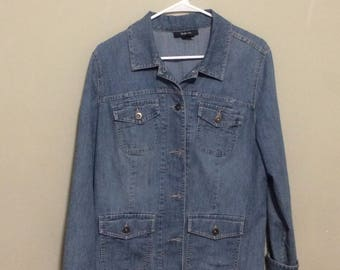 Denim  Style&Co  blue jean denim Jacket