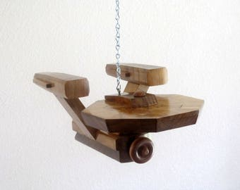 Starship Enterprise made from recycled wood scraps - FREE SHIPPING