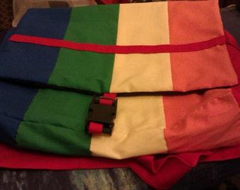 Rainbow messenger bag