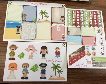 Giligan's Island Inspired Planner Stickers