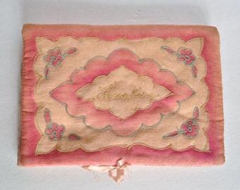 Antique Silk Hanky Pouch - Hankie Holder - Handkerchief Keeper