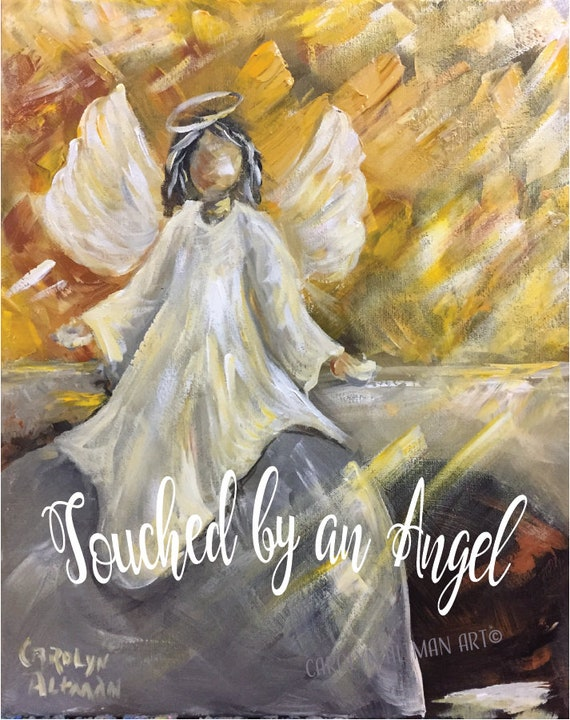 Touched by an Angel Note Cards | Art Print from an Easter Morning Sunrise Painting of Angel at the Tomb | Carolyn Altman Art