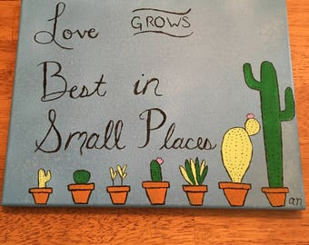 Love Grows Handpainted Canvas