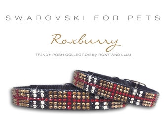 Trendy Posh Swarovski Crystal Dog collars, in 7 sizes