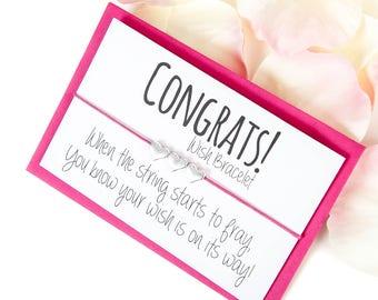 Congratulations Gift - Wish Bracelet - Congrats Card - Congratulations Card - Exam Congratulations - Charm Bracelet