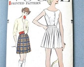 SALE 20% OFF Uncut 50s Vogue 9343 blouse and pleated shorts tennis outfit  Vintage Sewing Pattern 1950s Bust 40 inches