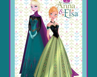 Disney Frozen Coronation Anna and Elsa Fabric From Springs Creative
