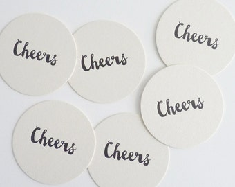Cheers – Letterpress Coasters