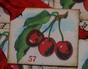 Sweet Cherries Vintage Image Gift Tags