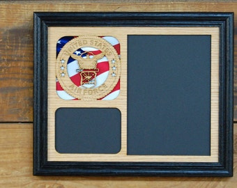 8x10 US Air Force Picture Frame, Air Force Gift, Military Picture Frame, Laser Engraved Picture Frame, Collage Picture Frame