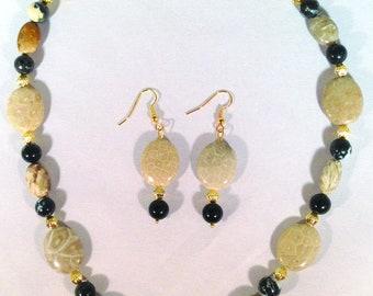 Necklace, Fossilized Palmwood, Texas State Gemstone