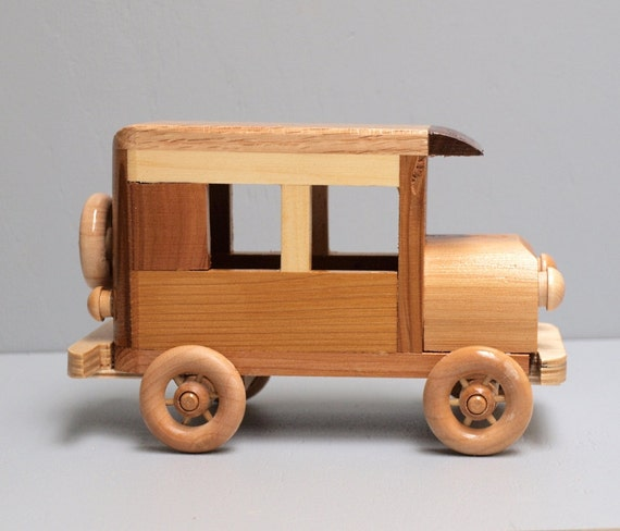 Wooden Toy Car for Children Old Vintage Model-T Ford Style Eco