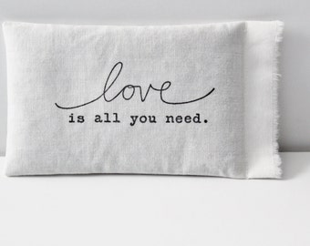 Cotton Lavender Sachet - Anniversary Gifts for Her, Love Is All You Need Souvenir for Guest