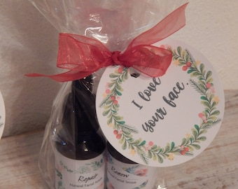 Facial Serum Gift Set, Christmas Gift, Wrapped, Natural Facial Oil, Moisturizer