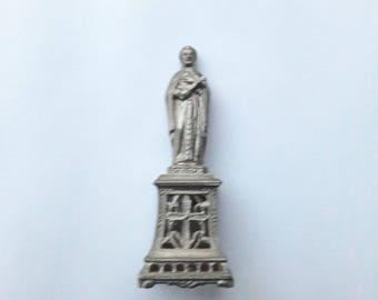 """3.5"""" St Regis Antique French Religious Figurine"""