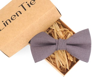 Lilac grey groomsmen bow tie, mens bow ties, purple wedding bow tie, pocket square, bow ties for men, boys bow ties, toddler bow tie