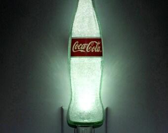 Coke Coca Cola soda Glass 12oz Night Light Bar Light Bottle Lamp Accent Lamp Eco 50,000 hr. LED ACL Label Kitchen Lighting