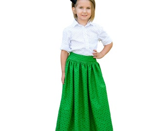 Skirt PDF Sewing Pattern, The Schatje Skirt, Knee, Midi, Maxi, Sizes 1 to 12