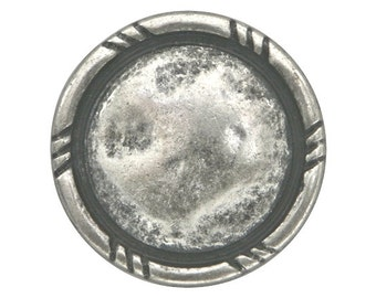 3 Rusticana 7/8 inch ( 23 mm ) Metal Buttons Antique Silver Color