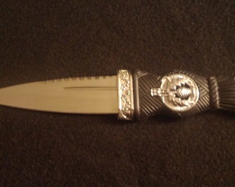 Sgian Dubh Athame Dagger w/ Sheath Scottish Wicca Pagan Celtic Ritual Ceremonial Blade Free Domestic Shipping!