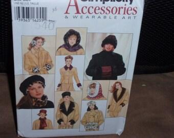 Simplicity 9302 Fur Accessories Wearable Art 1994 Pattern New  Uncut
