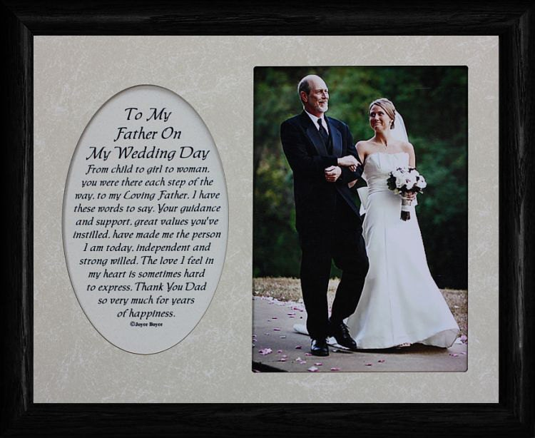 8x10 To My FATHER On My WEDDING DAY ~ Photo & Poetry Frame w/Cream ...