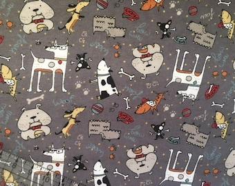 BTY, Dog Fabric, Dog Flannel, Snuggle Flannel, Fabric By The Yard