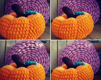 Celebrate fall with fancy pumpkin pillow decor. Or bring spring in your decor with bunny pillows. Proceeds go to charity.