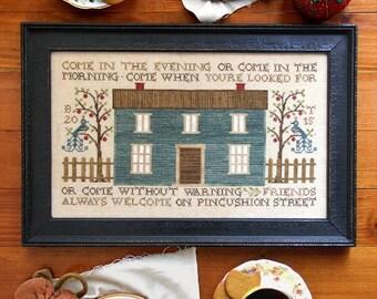 Pincushion Street : Cross Stitch Pattern by Heartstring Samplery