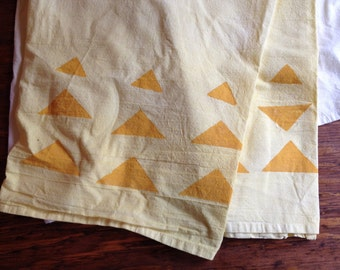 Hand Dyed and Stamped Flour Sack Towels