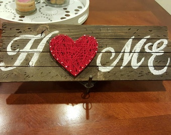 """Vintage Rustic """"Home"""" Wood Sign Homemade"""