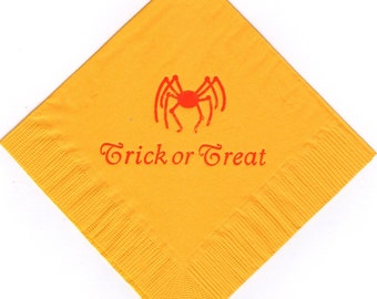 50 Spider logo Luncheon Dinner personalized napkins halloween holiday specail event