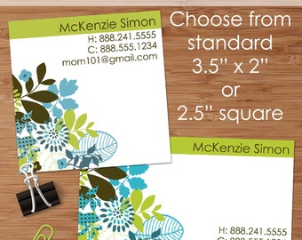 McKenzie (Mod Floral) 50 Custom Business or Calling Cards