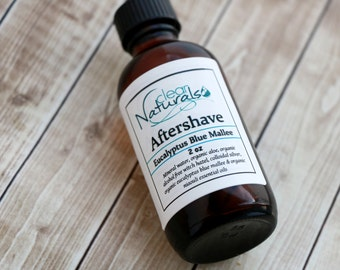 Mens Natural Aftershave - Eucalyptus Blue Mallee Aftershave, Natural Aftershave, Organic Aftershave