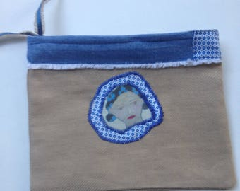 POUCH, case, storage, creation, made in France, handmade, cotton,
