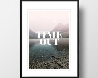 """Artprint """"Time Out"""""""