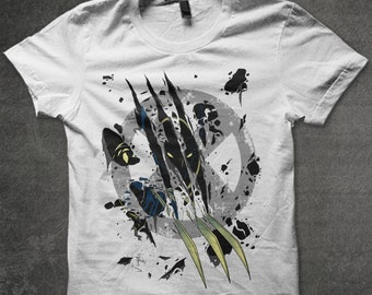 Reaping Claws,wolverine claws, comics,mutant, geek t-shirt