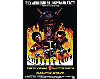 Race With The Devil Movie Poster Print - 1975 - Horror Cult Classic - One (1) Sheet Artwork Reproduction