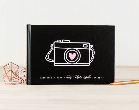 Wedding Photo Guest Book landscape wedding guestbook wedding photo book horizontal guest book instant photo guest book custom wedding book