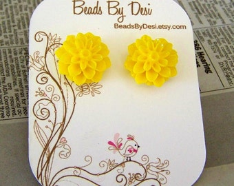 Sunshine Dahlia Earrings