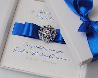 Luxury wedding card personalised wedding card gift boxed