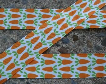 """3 yards Easter Ribbon Carrot Printed Ribbon 1"""" ribbon 3 yards Hair bow ribbon"""