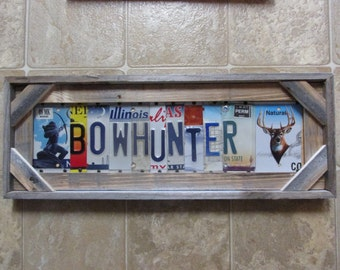 Smith license plate art personalized license plate sign bow hunter license plate sign personalized plate signs bow hunting reclaimed fence wood unique license plate sign art solutioingenieria Images