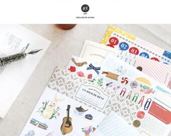 Lattiero-caseario Deco confezione adesivi - versione 5-9 fogli