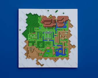 """Legend of Zelda: A Link to the Past, Map of Hyrule (10"""" x 10"""") - Canvas Wrap Print"""