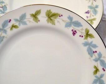Vintage Max Schonfeld Fine China Bread Dessert Plate Set of 5 Grape Vine 6701 Japan PanchosPorch