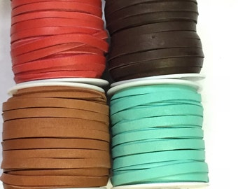 """10 feet 3/16"""" Deer Skin Lace - Your choice of color  Free Shipping USA"""