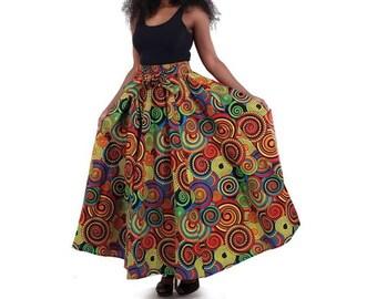 Circle Print Kouture Skirt