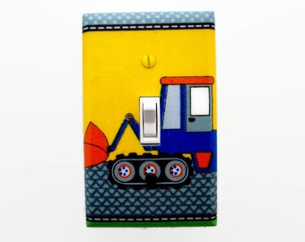 Truck Light Switch Cover - Trucks Switch Plate Cover - Construction Room Decor