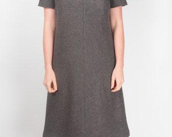 Grey Flannel Tunic Dress